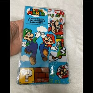 New Super Mario 5 Boys' cotton briefs size 6